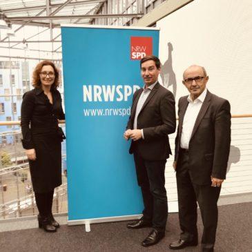 Gespräch mit dem Landesvorsitzenden der NRWSPD Sebastian Hartmann