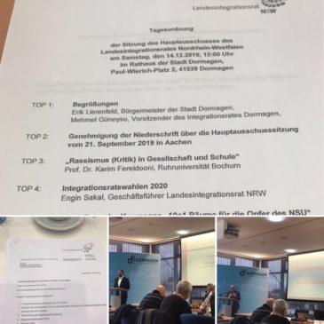 Hauptausschuss des Landesintegrationsrates in Dormagen