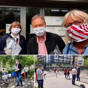 Bezirksvertretung 2 verschenkt Mund-Nase-Masken