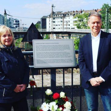 Gedenktafel am Wehrhahn