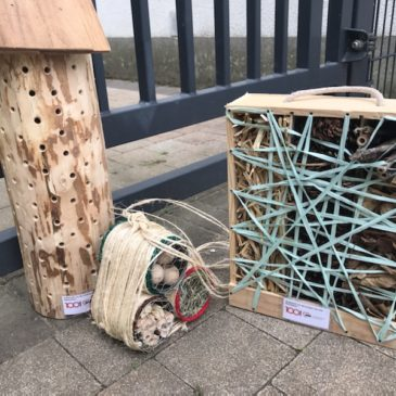Insektenhotels für die Kita auf dem Sterntalerweg in Düsseldorf