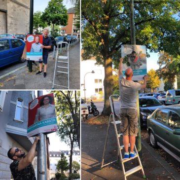 Plakatieren in Düsseltal und Flingern