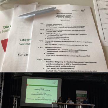 Mitgliederversammlung des Landesintegrationsrates in Köln