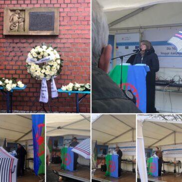 Öffentliches Gedenken an die ermordeten Sinti und Roma am ehemaligen Lager