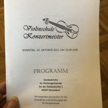 Herbstkonzert der Violinschule Konzertmeister